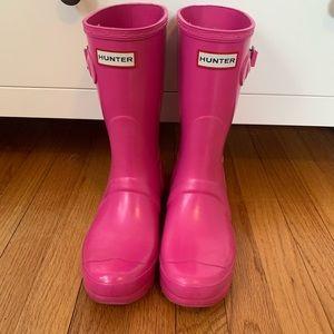 Hunter Pink Short Rainboots